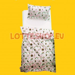 Pillowcase and Duvet Cover Lotte Clouds, pink